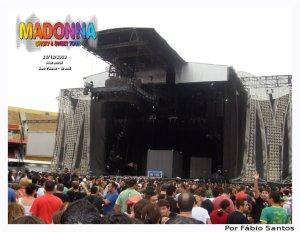 Assim que consegui entrar no Estádio, emoção em ver a dimensão do palco.