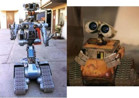 Não se parecem mesmo !!! Wall-E é o irmão de Jhonnie 5.