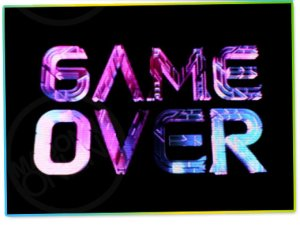 Game Over, sugerindo o fim... da Sticky & Sweet Tour