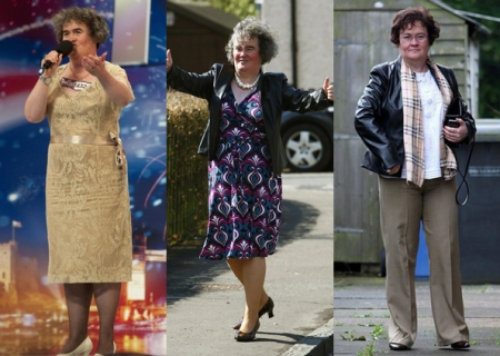 Compares os três momentos de Susan, vejam a evolução e a personalide da mais nova sensação. (Foto: Reuters)
