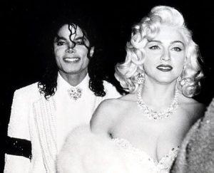 Michael Jackson e Madonna no oscar em 91. Madonna pretendia se apresentar em um dos shows do cantor em Londres.