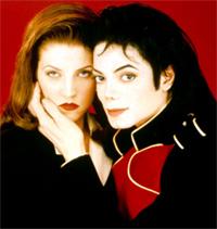 O casamento relâmpago em 93 de Lisa Presley e Michael Jackson.